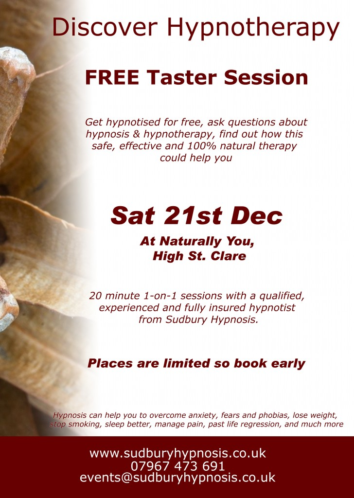 Discover Hypnotherapy December 2013
