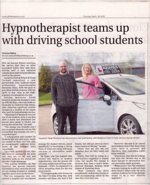 Article about my work on driving test nerves